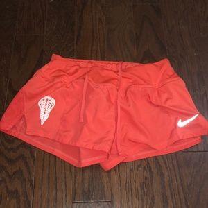 Lacrosse coral nike shorts